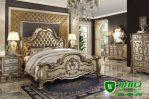 Tempat Tidur Set Pengantin Master Bedroom Ukiran Jepara Elegan