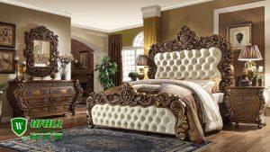 Bedroom Set Mewah Klasik Ukir Mebel Jepara