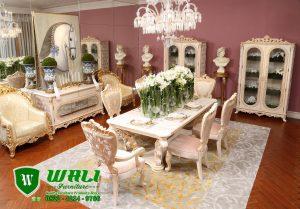 Set Meja Ruang Makan Mewah Modern Mebel Jepara