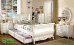 Set Tempat Tidur Anak Mewah Warna Putih