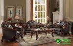 Sofa Tamu Jati Jepara Ukiran Mewah Modern Terbaru