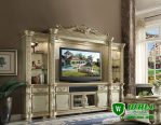 Bufet Tv Mewah Ukir Klasik Modern Terbaru Jepara