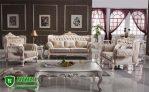 Kursi Tamu Ukir Jepara Mewah Klasik Warna Putih