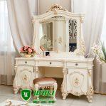 Meja Rias Putih Ukir Mewah Elegan Model Terbaru