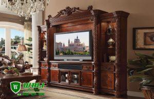Bufet Tv  Jati Mewah Model Ukir Ukuran Besar
