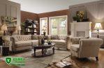 Sofa Mewah Modern Minimalis Warna Coklat Elegan