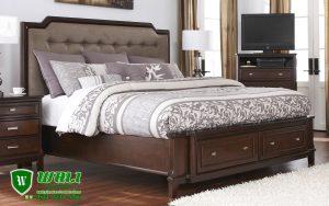 Tempat Tidur King Size Bed Minimalis Elegan Jati Jepara