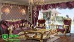 Kursi Tamu Sofa Mewah Terbaru Ukir Jepara Warna Emas