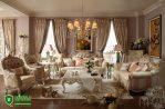 Set Kursi Mewah Ruang Tamu Duco Elegan Model Eropa