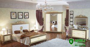 Set Tempat Tidur Mewah Modern Ukir Jepara Terbaru