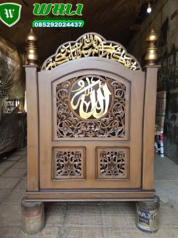 mimbar masjid ukir mewah desain besar kualitas standar,mimbar besar,mimbar kecil,mimbar masjid,mimbar musholla,mimbar ukir,mimbar minimalis,mimbar mewah,mimbar bagus