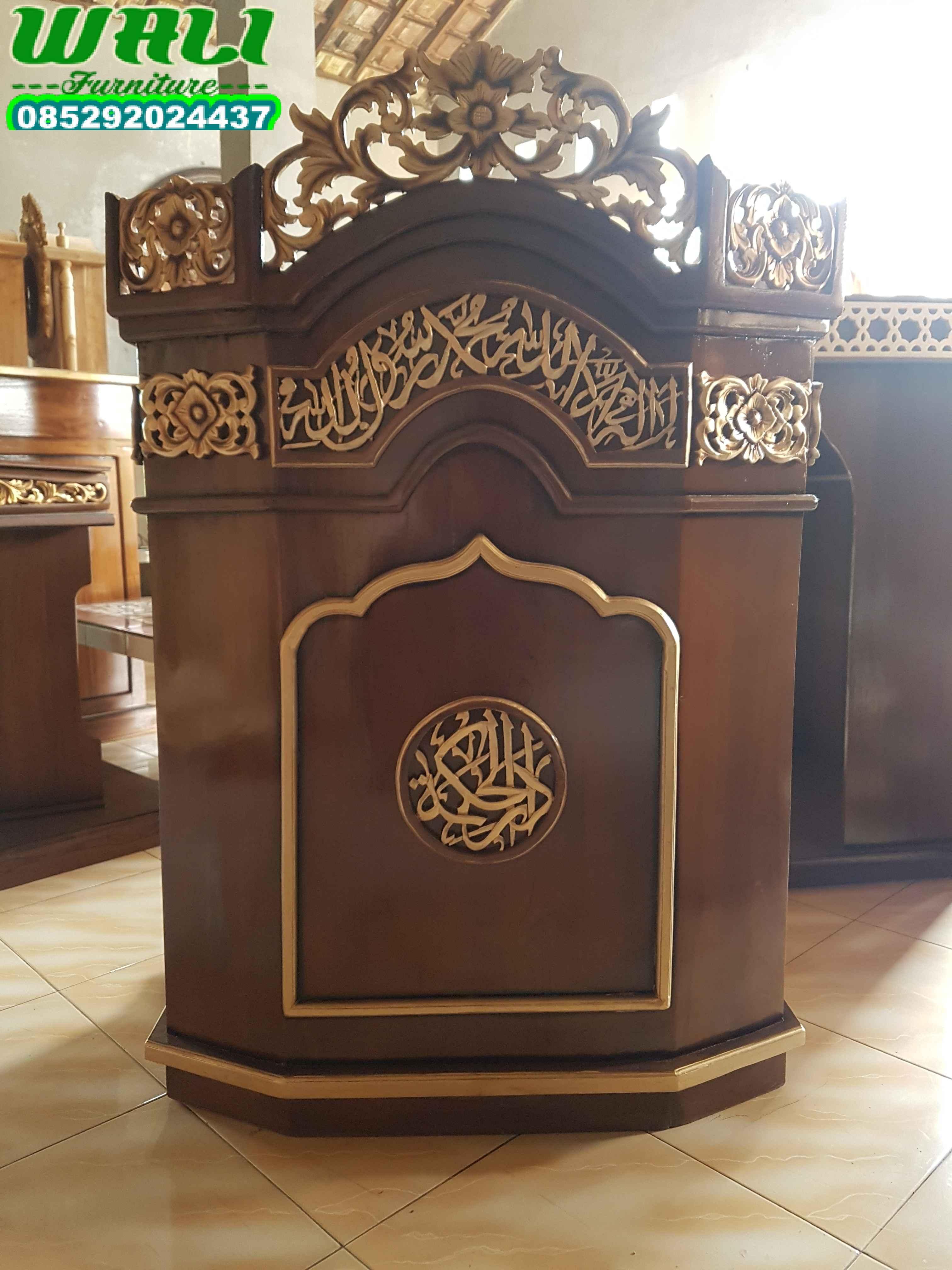 mimbar masjid dan mimbar musholla ukir mewah desain ekspor